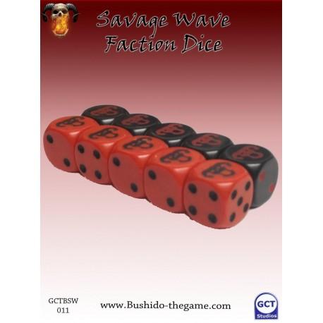 savage wave faction dice (10)