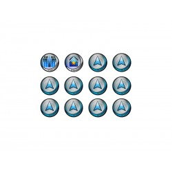Infinity Tokens Regular (12) Blue