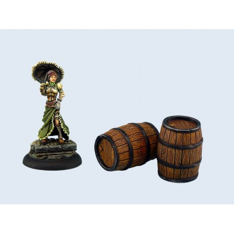 Large Wooden Barrels (2)