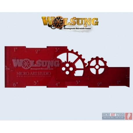 """Wolsung range ruler """"wooden"""""""
