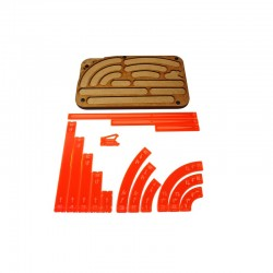 Space Fighter Manouver Tray - Orange