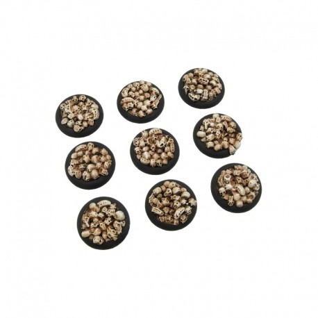 Skulls Bases, WRound 30mm (5)