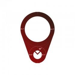Circular Ruler Red