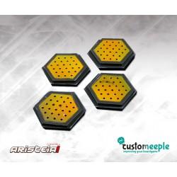ARISTEIA! Socles hexagonaux Nomades (4) avec base acrylique transparent