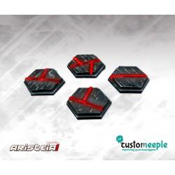 ARISTEIA! Socles hexagonaux Aleph (4) avec base acrylique transparent