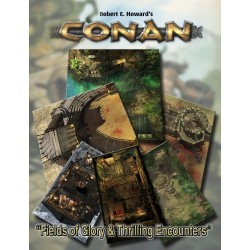 Conan: Fields of Glory & Thrilling Encounters Geomorphic Tile Set (EN)
