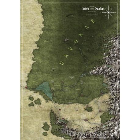 Symbaroum: Ambria and Davokar map (EN)