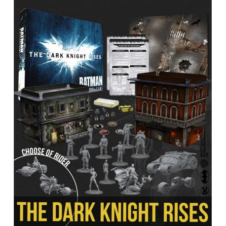 BMG THE DARK KNIGHT RISES GAME BOX (English) with Alfred exclusive miniature
