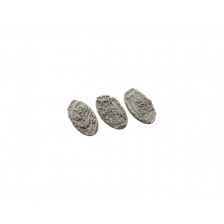 Dark Temple Bases, Oval 75mm (2)