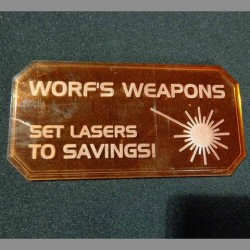 Sign H (Worf's Weapons)
