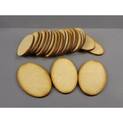25x 60mm x 35mm Oval Bases