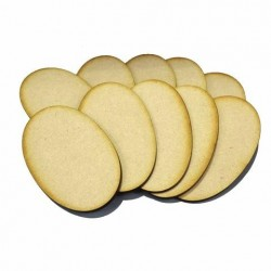 10x 90mm 52mm Oval Bases