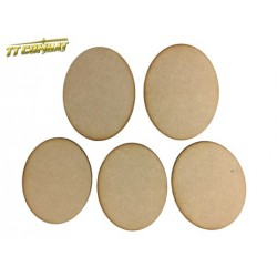 5x 120mm x 95mm Oval Bases