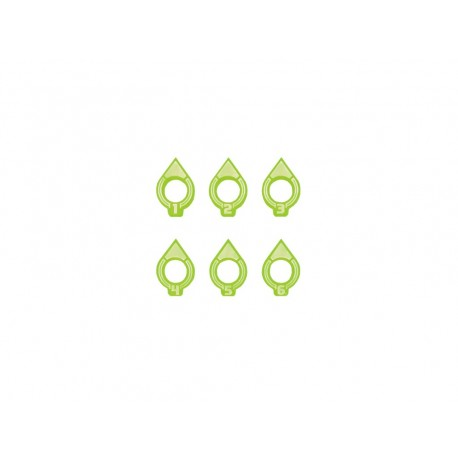 Space fighter Arc Indicator Small 1-6 Green (6)