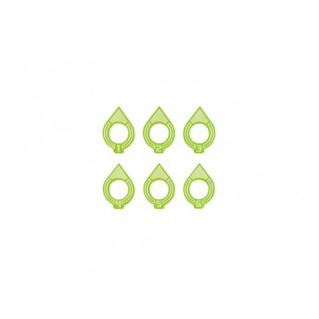 Space fighter Arc Indicator Big 1-6 Green (6)