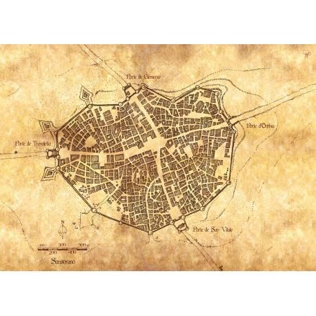 Carte en tissu de SANSORANNO- SHADE le JDR
